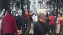 GÖZTEPE'LİLER BEŞİKTAŞ TARAFTARINA SALDIRDI!